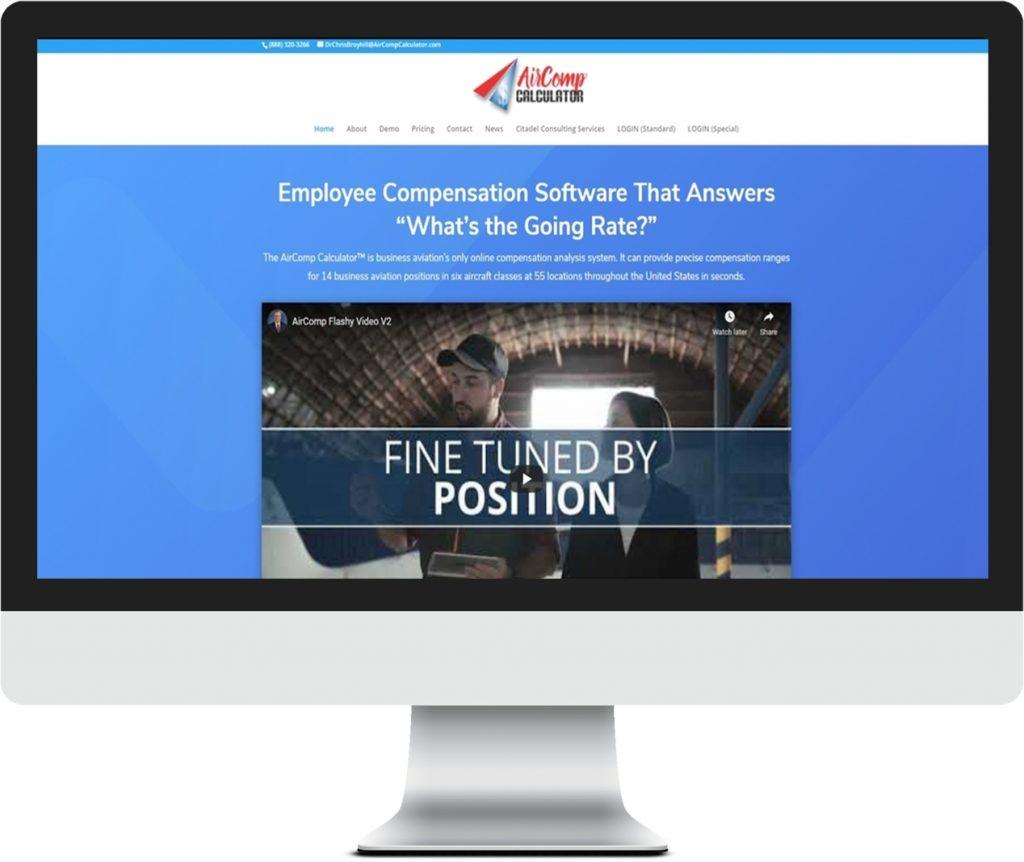 AirCompCalculator Website